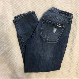 Rock & Republic Heavily Distressed Ankle Jeans 14
